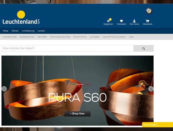 Leuchtenland-Onlineshop-Homepage-Banner