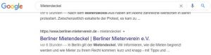 Screenshot Google-Suche